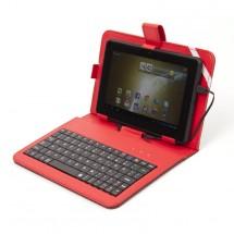 """Tablet puzdro s klávesnicou OMEGA OCT7KBIB, univerzálne, 7"""" červe"""