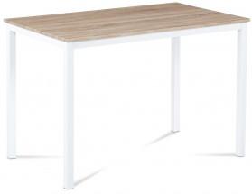 Tablo - Jedálenský stôl 110x70cm (biely kov/sonoma)