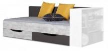 Tablo - posteľ 90x200 cm, rošt (grafit/enigma)