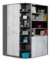 Tablo - šatníková skriňa, 2x dvere, 135 cm (grafit/enigma)