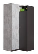 Tablo - šatníková skriňa, 2x dvere, 90 cm (grafit/enigma)