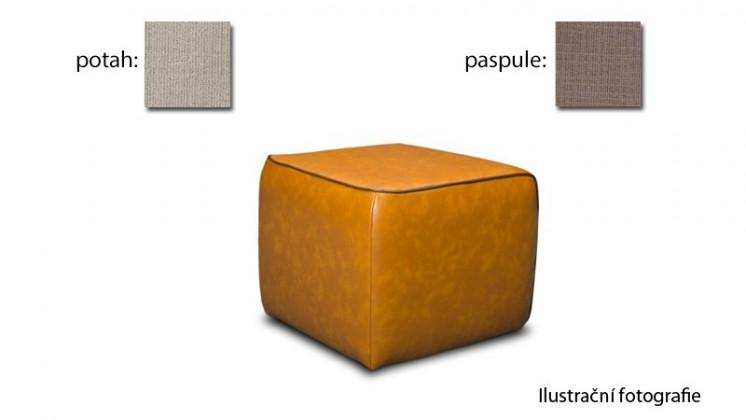Taburet Case -(k:carezza-macchiato B133,sk.3S/m:carezza-sand B132,sk.3S)