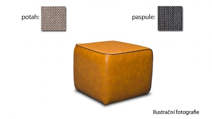 Taburet Case - (k:platin - grey C121,sk.2s/m:platin - sand C123,sk.2s)