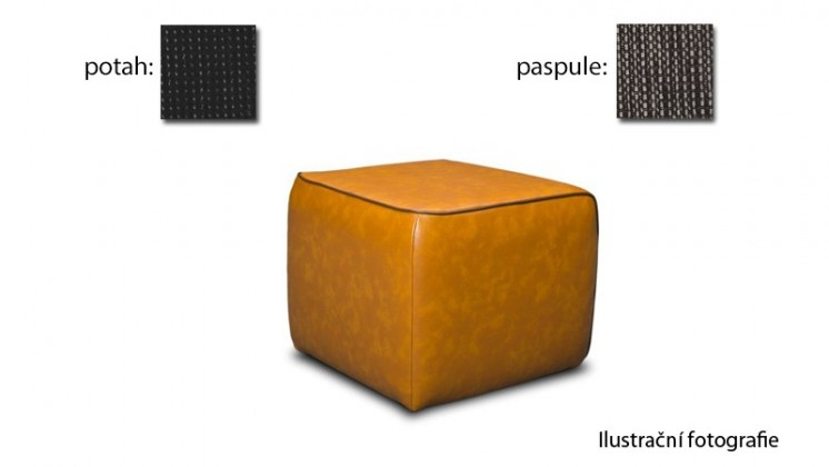 Taburet Case - (k:platin - hazel C127,sk.2s/m:platin - black C120,sk.2s)