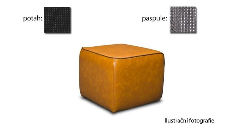 Taburet Case -(k:platin - silver C124,sk.2s/m:platin - black C120,sk.2s)