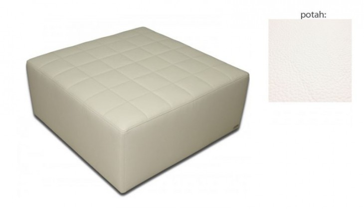 Taburet čtvercový(hermes pure white sk. VII)