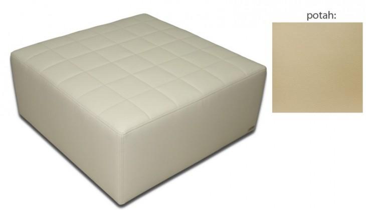 Taburet Taburet čtvercový(extraleather cream sk. III)
