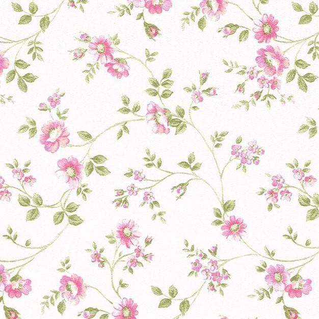 Tapeta 624-2 (biela/růžová, zelená)