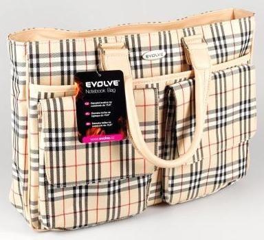 """Taška EVOLVEO Country dámska taška na nb 15,6"""", nylon, béžová"""
