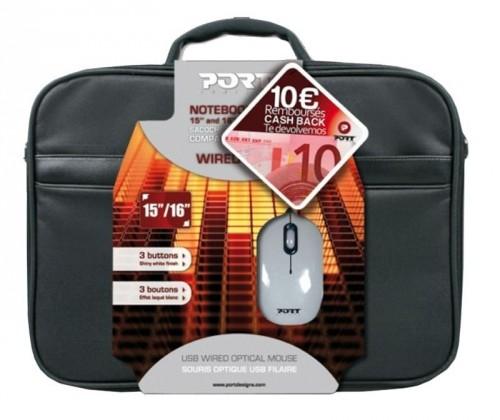 Taška  Port Brašna na notebook ESSENTIAL + USB  myš PORT 501521