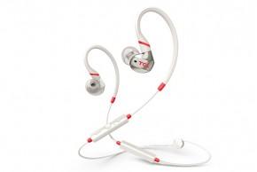 TCL bluetooth športové slúchadlá do uší, mikrofón, biela