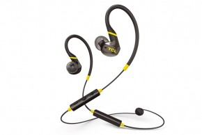 TCL bluetooth športové slúchadlá do uší, mikrofón, čierna
