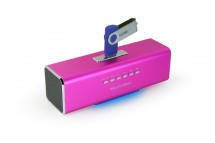 Technaxx MusicMan, batéria 600 mAh, FM-Radio, USB, ružový