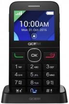 Telefón pre seniorov Alcatel 2008G, čierna/strieborná