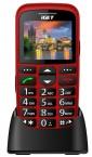 Telefón pre seniorov iGET D7 Simple, červená