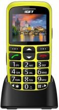 Telefón pre seniorov iGET D7 Simple, žltá