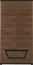 Tes - Skriňa , 2x dvere (ořech, korpus a fronty)