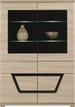Tes - Vitrína, 2x dvere, 3x polica, LED (brest, korpus a fronty)