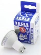 Tesla LED žiarovka GU10 3,5W 230V 240L 25 000h 3000K