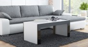 Tess - Konferenčný stolík obdĺžnik (biela, čierna)