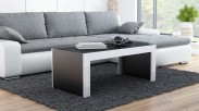 Tess - Konferenčný stolík obdĺžnik (čierna, biela)