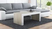 Tess - Konferenčný stolík obdĺžnik (dub, biela)