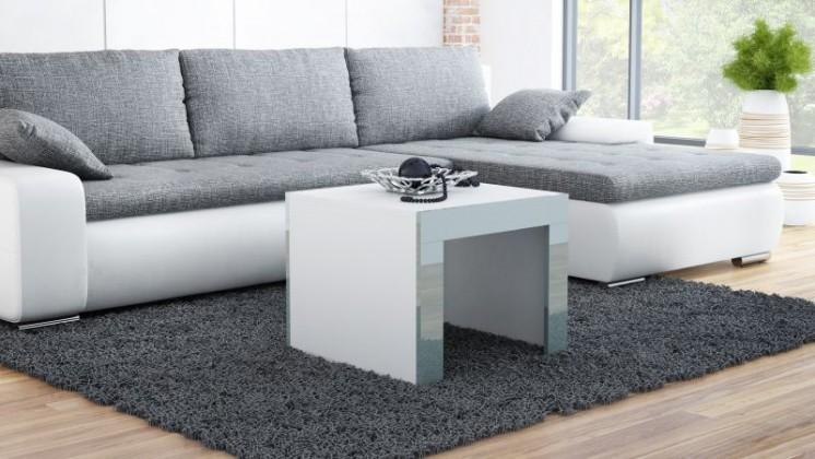 Tess - Konferenčný stolík štvorec (biela, sivá)