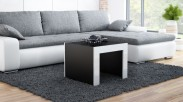Tess - Konferenčný stolík štvorec (čierna, biela)