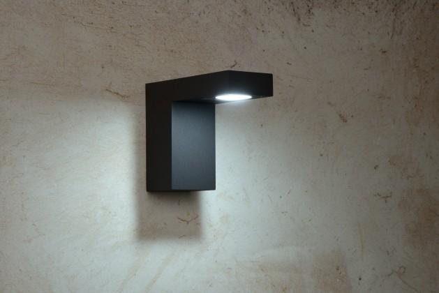 Texas - nástenné osvetlenie, 6W, LED (čierna)