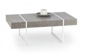 Tiffany - konferenčný stolík beton, bílý (beton/bielá)