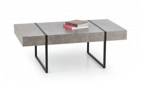 Tiffany - konferenčný stolík beton, černý (beton/čierná)