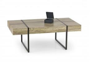 Tiffany - konferenčný stolík dub, černý (dub žíhaný/čierná)