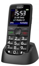 Tlačidlový telefón Aligator A675 čierny
