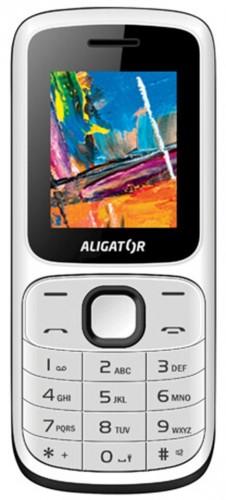 Tlačidlový telefón ALIGATOR D210 Dual sim, biela