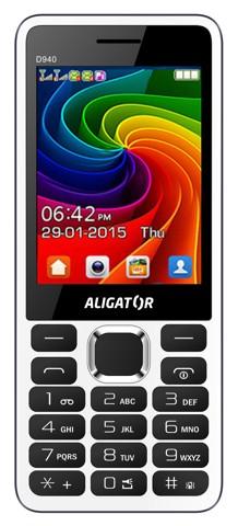 Tlačidlový telefón Aligator D940 DS, biela VADA VZHĽADU, ODRENINY