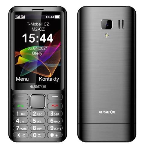 Tlačidlový telefón Aligator D950 Dual sim, čierna