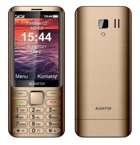 Tlačidlový telefón Aligator D950 Dual sim, zlatá