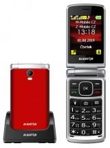 Tlačidlový telefón Aligator V710 červeno-strieborný