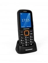 Tlačidlový telefón Blaupunkt BS 04, čierna-oranžová