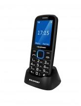 Tlačidlový telefón Blaupunkt BS 04, čierno-modrý