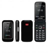 Tlačidlový telefón Blaupunkt BS 06, čierna