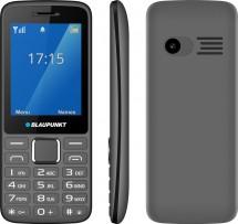 Tlačidlový telefón Blaupunkt FM 03, sivý