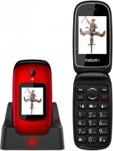 Tlačidlový telefón Evolveo EasyPhone FD, véčko, červená