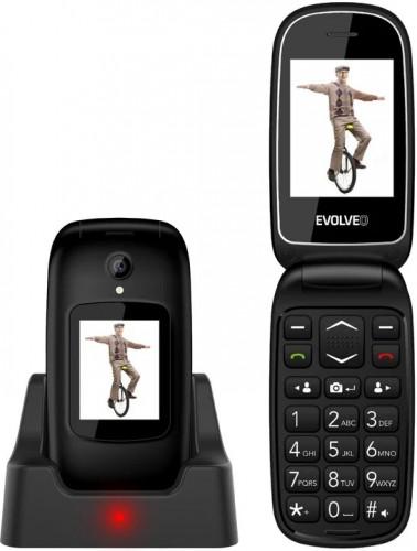 Tlačidlový telefón Evolveo EasyPhone FD, véčko, čierna