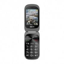 Tlačidlový telefón Maxcom Comfort MM825, Véčko, černá