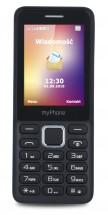 Tlačidlový telefón myPhone 6310, čierna