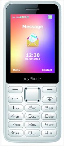 Tlačidlový telefón myPhone 6310 Easy, biela