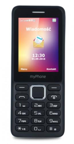 Tlačidlový telefón myPhone 6310 Easy, čierna