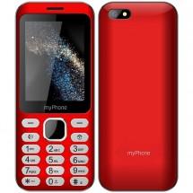 Tlačidlový telefón myPhone Maestro, červená