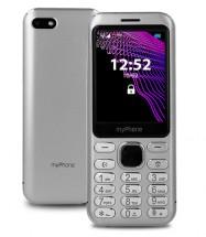 Tlačidlový telefón myPhone Maestro Prestige, strieborná